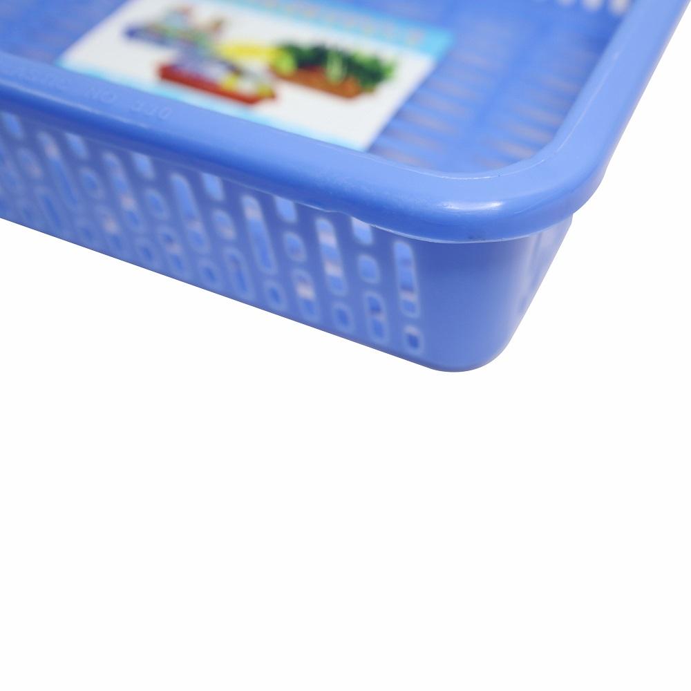 Combo 3 rổ nhựa chữ nhật Chấn Thuận Thành 41 x 29 x 10 cm đựng đồ, đựng rau củ, đa năng tiện dụng RCN4120-3 (giao màu ngẫu nhiên)