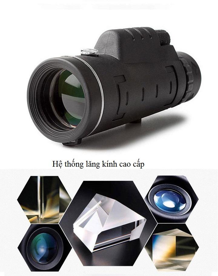 Ống nhòm 40x60 quay phim chụp ảnh cho điện thoại chuyên dụng có giá đỡ đa năng cao cấp- Hàng nhập khẩu (Tặng móc treo chai nước -giao màu ngẫu nhiên)