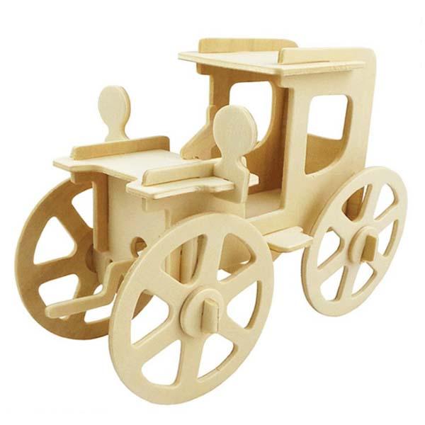 Mô hình lắp ghép 3D bằng gỗ Xe hơi cổ điển