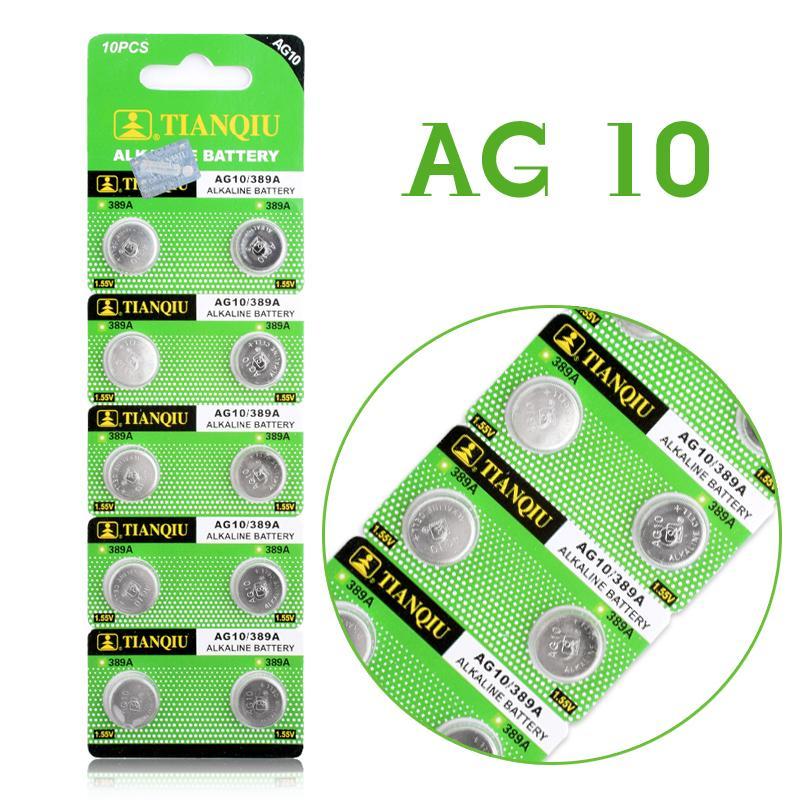 Bộ 10 viên pin nút AG10
