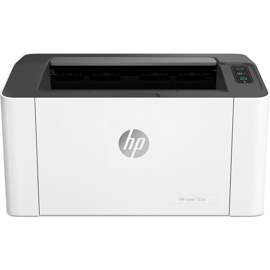 Máy in laser đen trắng HP 107W - 4ZB78A - Hàng Chính hãng