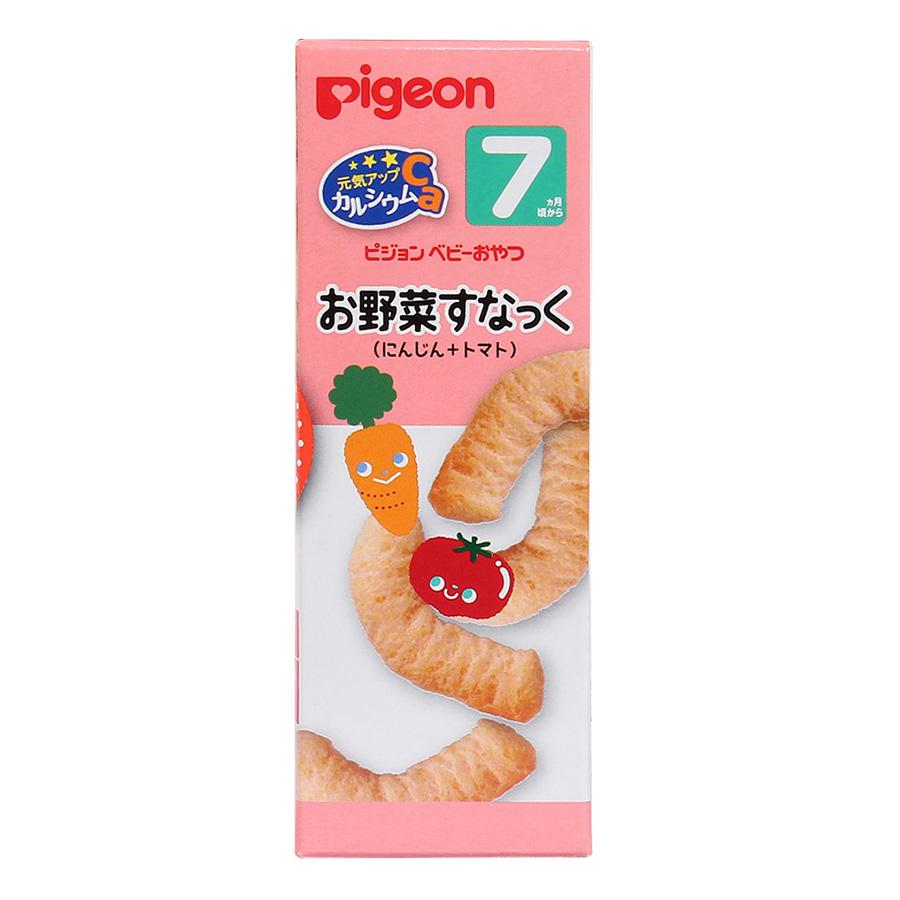 Bánh Ăn Dặm Cho Bé Vị Cà Rốt Và Cà Chua Pigeon (14g)