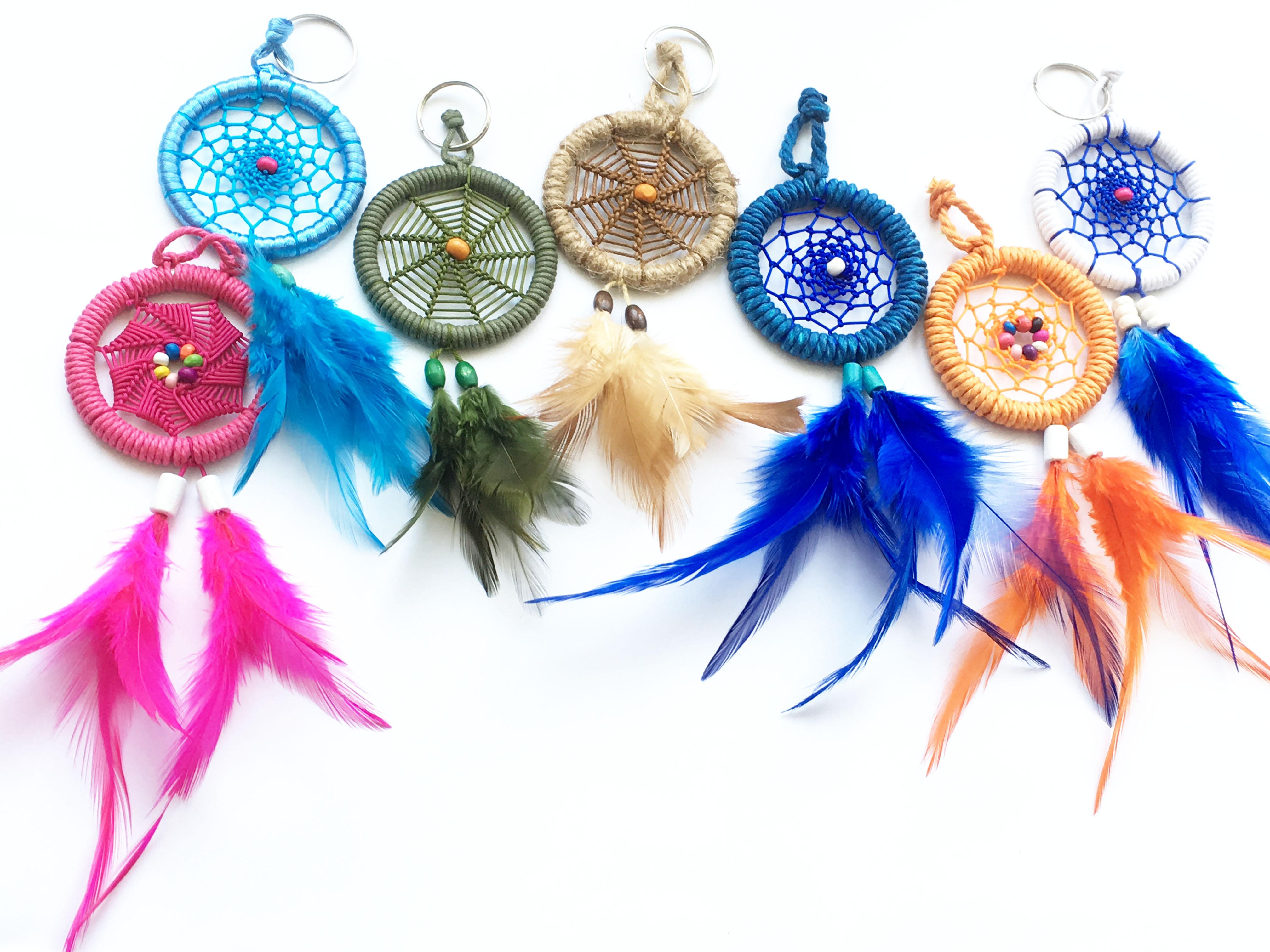 Móc khóa Dreamcatcher - Quà tặng trang trí handmade (phát màu ngẫu nhiên)