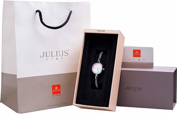 Đồng Hồ Nữ Julius Star Hàn Quốc JS-032A Dây Thép Màu Bạc