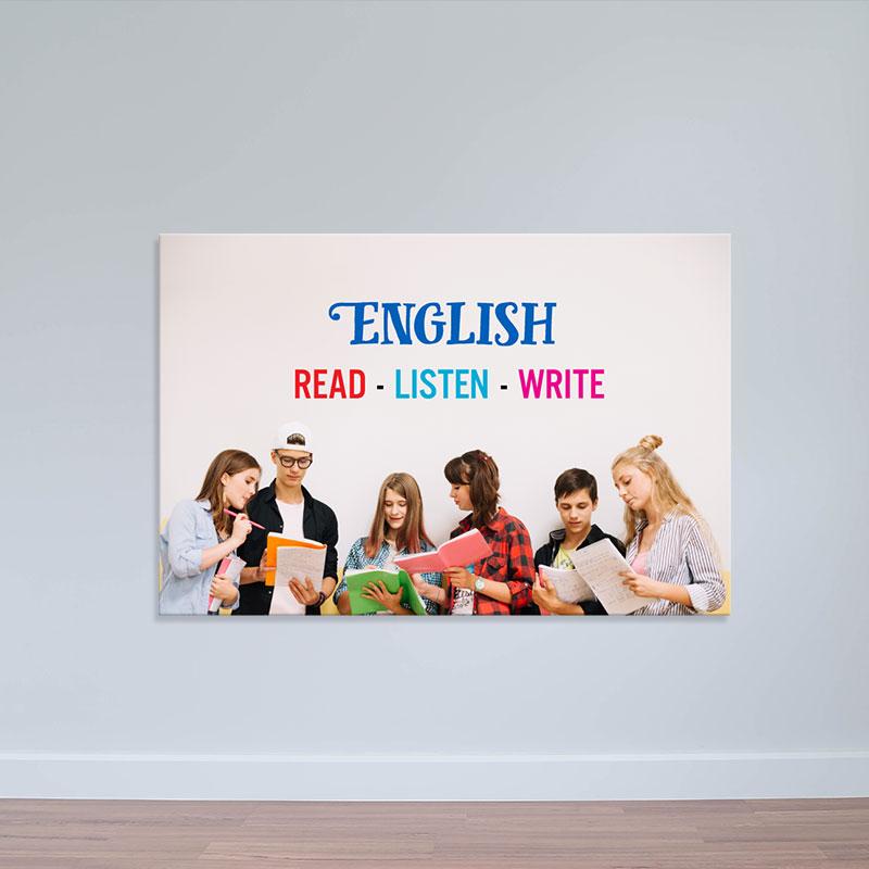 Tranh phòng học tiếng anh   Tranh treo tường đẹp W2184