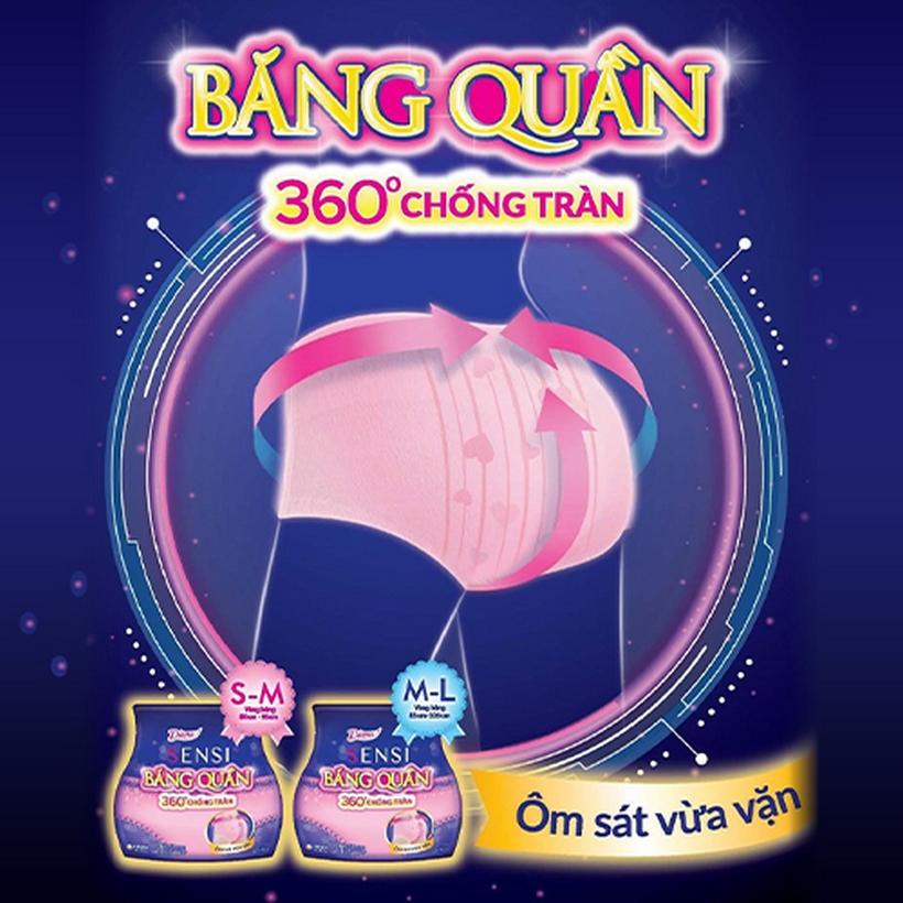Bộ 2 Diana Sensi Băng quần size M-L (5 miếng/ gói)