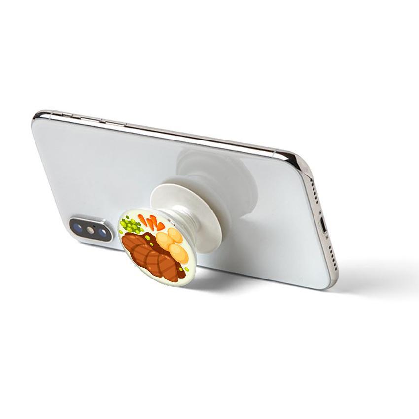 Gía đỡ điện thoại đa năng, tiện lợi - Popsocket - In hình BEAFSTEAK - Hàng Chính Hãng