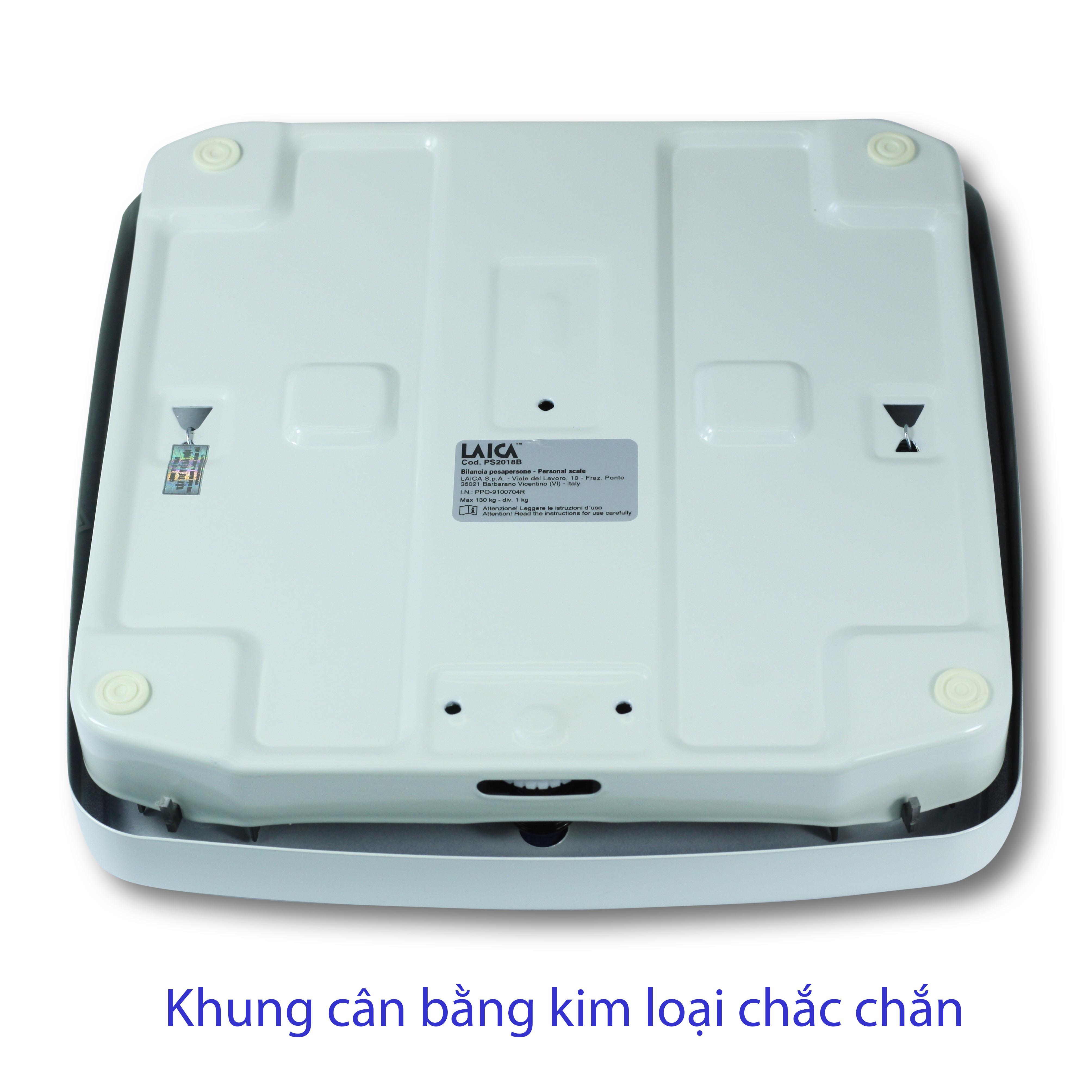 CÂN SỨC KHOẺ CƠ HỌC LAICA ITALY - 130 kg - Mặt cân phủ PVC chống trơn trượt - HÀNG CHÍNH HÃNG