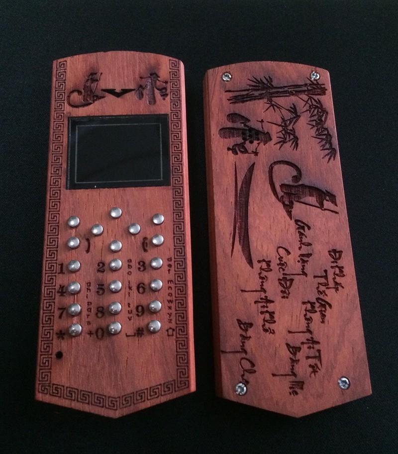 Vỏ gỗ cho điện thoại Nokia 1202 mẫu Đô la