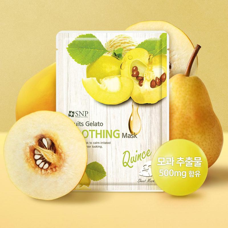 Combo 10 Mặt Nạ Lê Dưỡng Mịn Da Nhạy Cảm SNP Fruits Gelato Soothing Mask