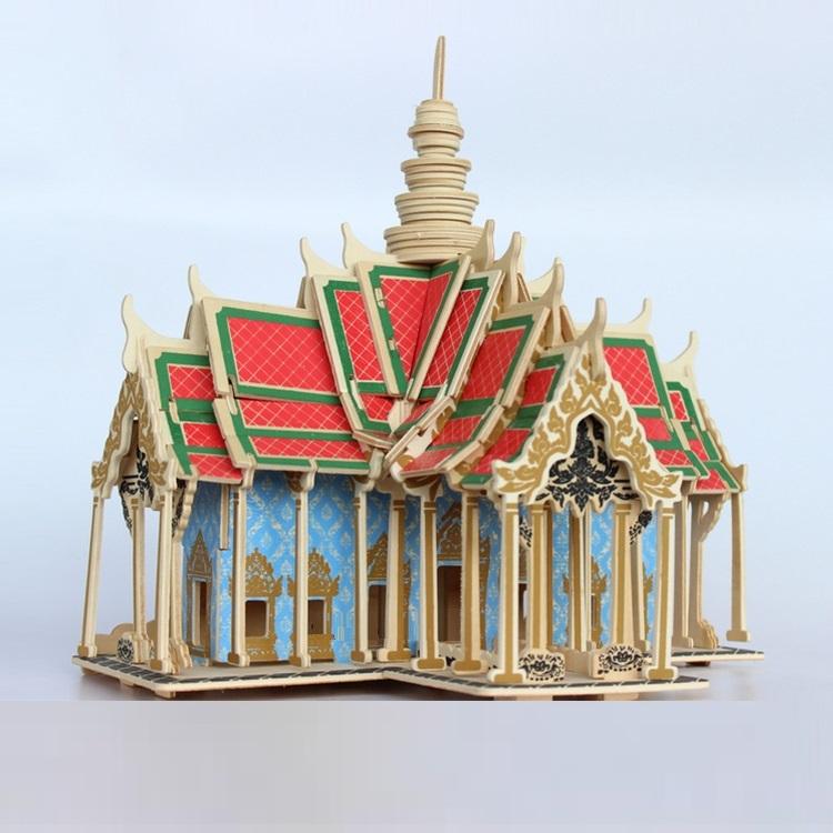 Đồ chơi lắp ráp Mô hình Cung điên Thái Lan - Tặng kèm đèn LED USB trang trí