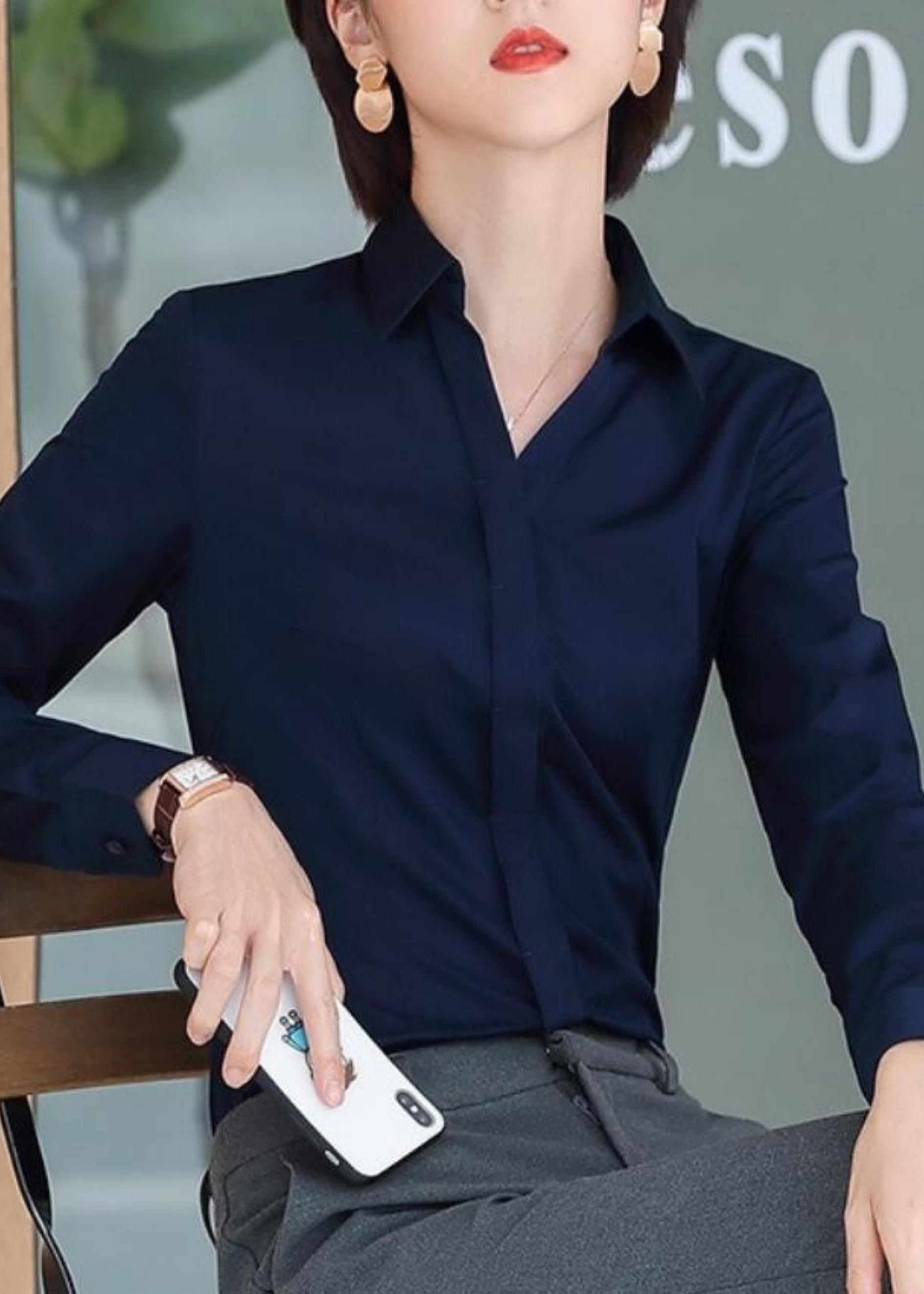 Áo Sơ Mi Nữ Trơn Dài Tay Công Sở CV088 Chất Kate Mềm Mịn Chuẩn Form Thời trang nữ cao cấp