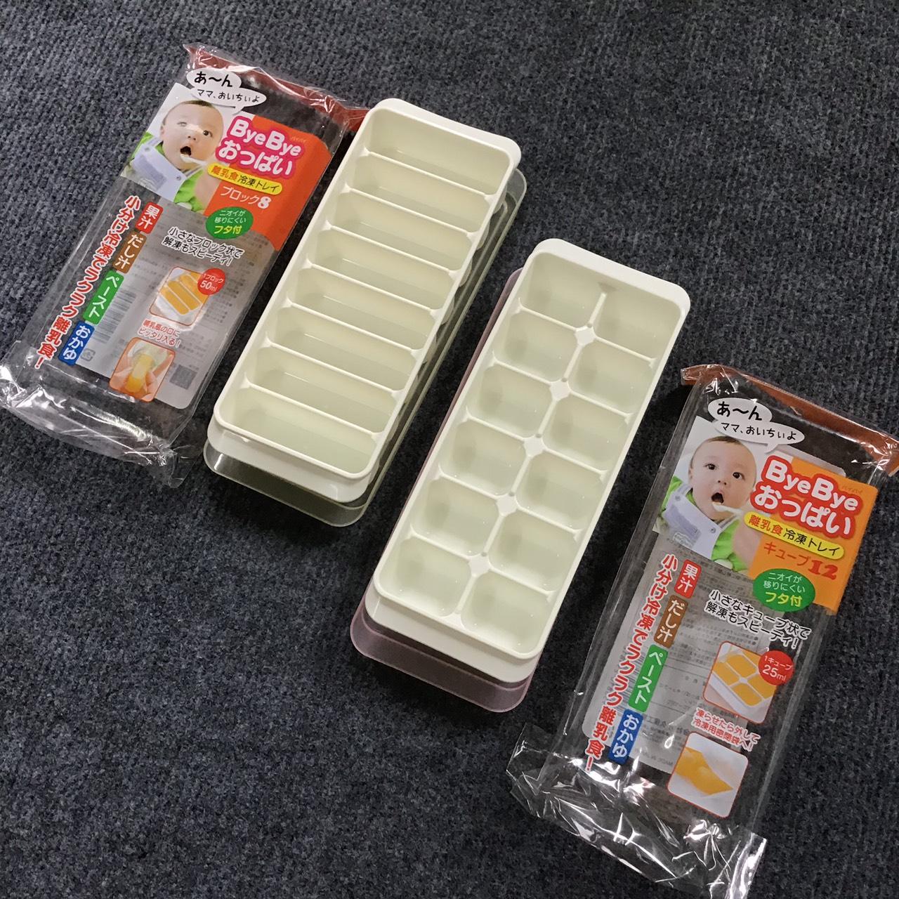 Dụng cụ chứa đồ ăn dặm (khay 12 ngăn & 10 hộp 50ml) + tặng 5 zipper 10x15cm