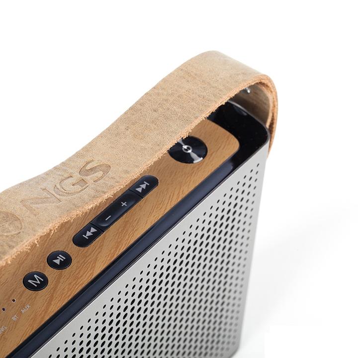 Loa Bluetooth Chính Hãng NGS ROLLER BYRON 360º Kiêm Sạc Dự Phòng