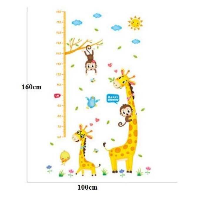 Decal thước đo hươu