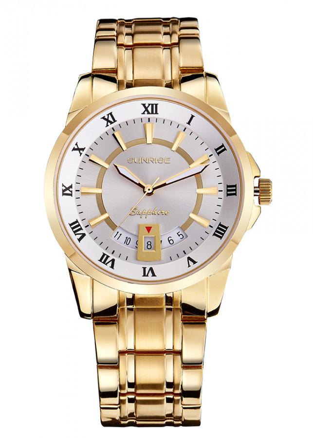 Đồng hồ nam siêu mỏng Sunrise DM771SWB kính Sapphire chống xước chống nước tốt - Fullbox chính hãng
