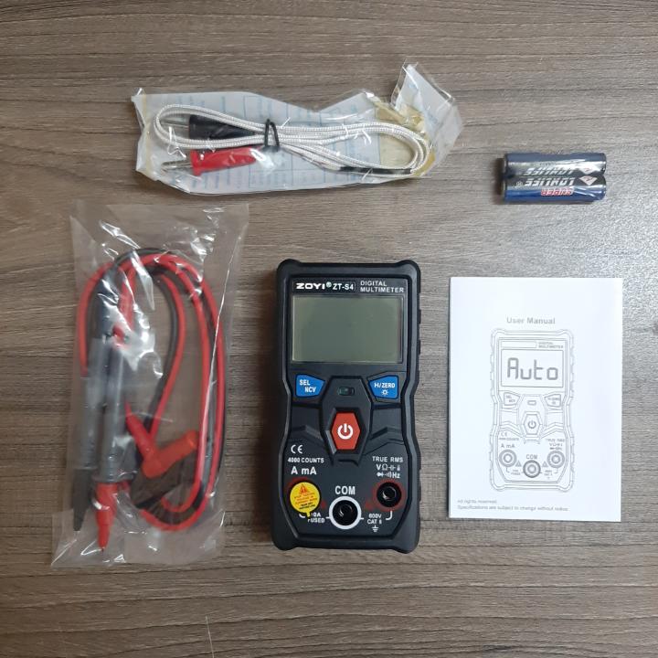 Đồng Hồ Vạn Năng Đo Điện Tự Động ZOYI ZT-S4 Có Thể Đo Được Dòng Điện DC, AC