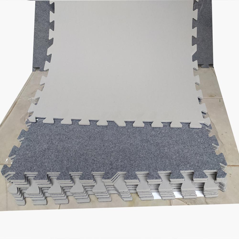 Combo 10 tấm xốp mặt thảm nỉ Kt: 60cm x 60cm x 0,65cm/tấm màu xám sáng