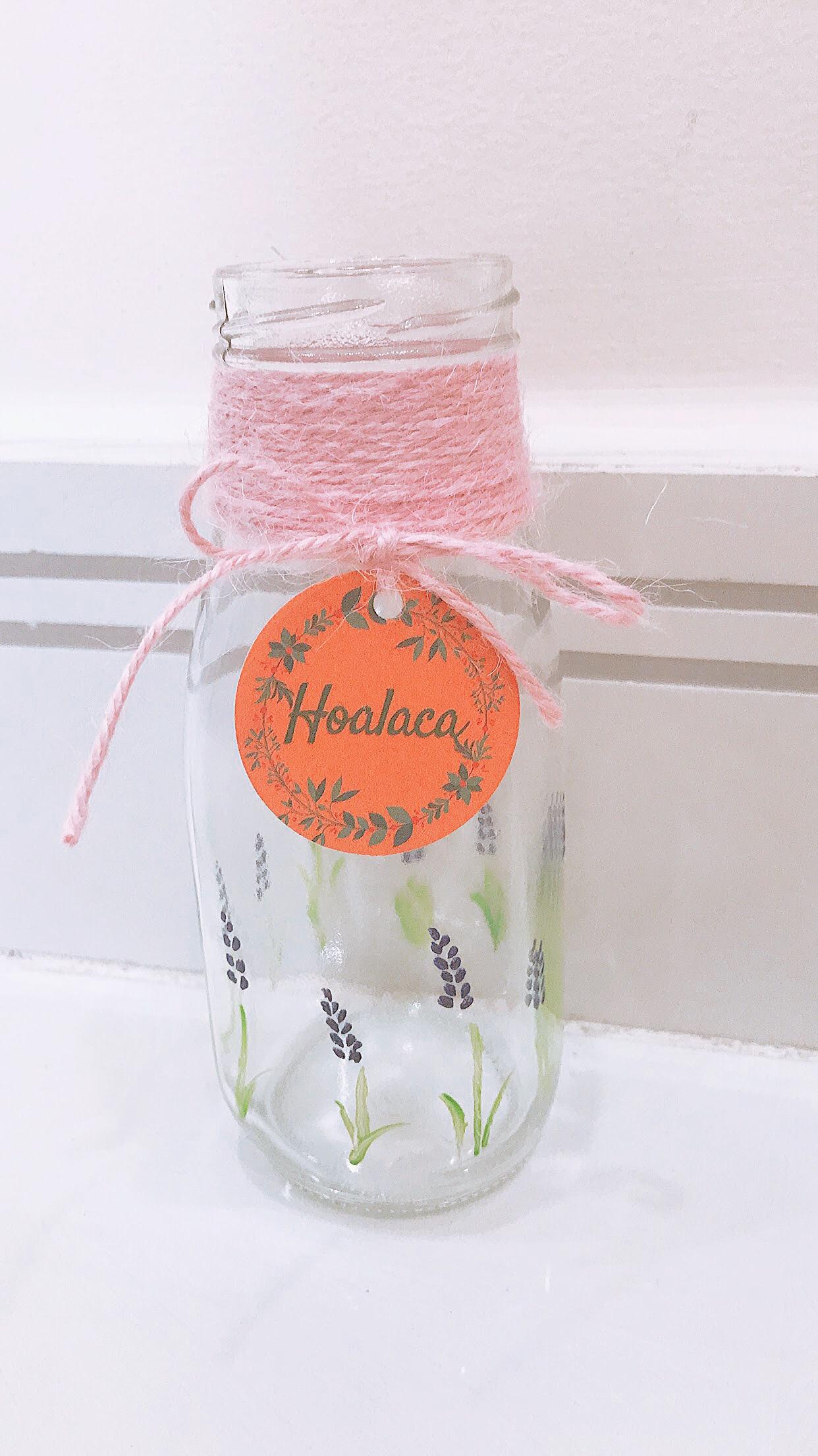 Bình thủy tinh cắm hoa - handmade