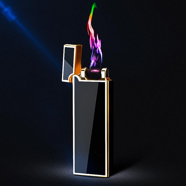 Hộp Quẹt Bật Lửa Vảy 1 Tia Lửa Plasma Đan Chéo 4056 - Sạc Điện ( giao màu ngẫu nhiên )