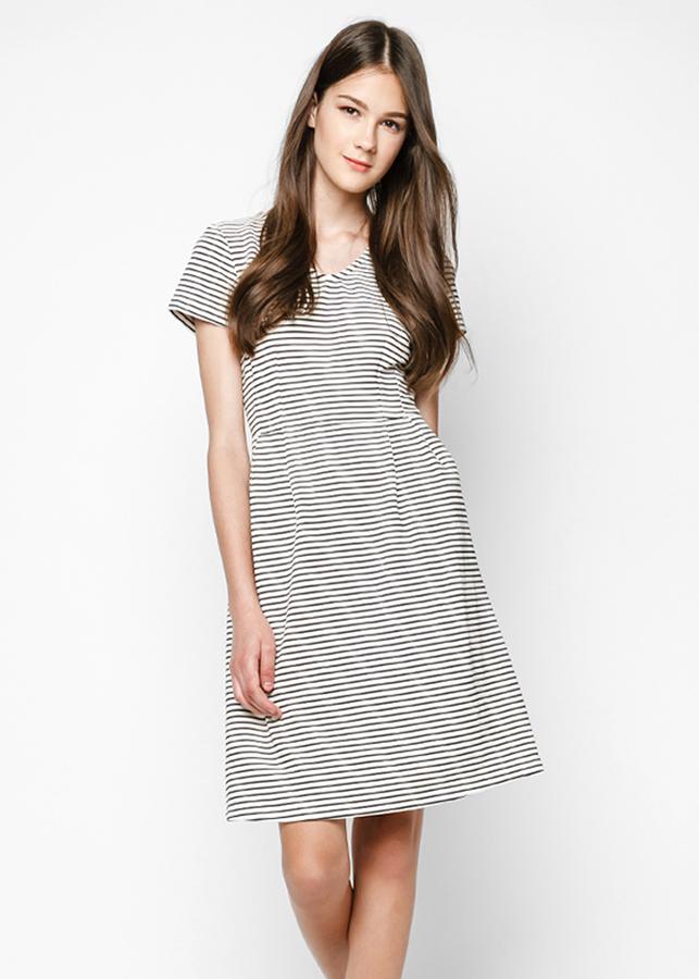 Đầm Nữ Xòe Kẻ Sọc Mint Basic - Size S