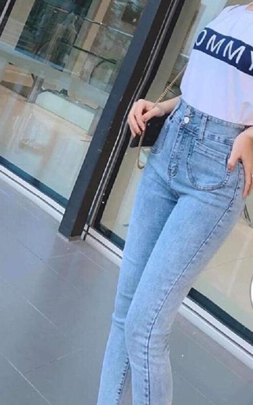 Quần Jeans Nữ Lưng Cao Phối Túi Trước Thời Trang JN019