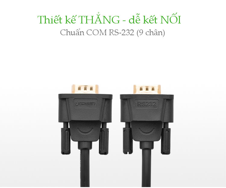 Dây cáp COM RS-232 cái sang cái dài 1.5M UGREEN DB101 20149 - Hàng chính hãng