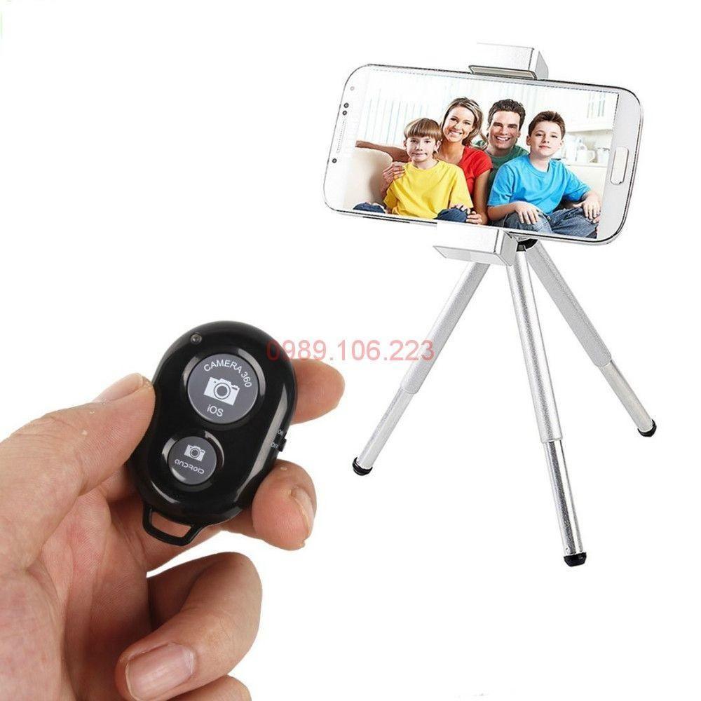 Remote điều khiển chụp hình tự sướng bằng kết nối Bluetooth, nhỏ gọn dễ mang theo đi du lịch xa