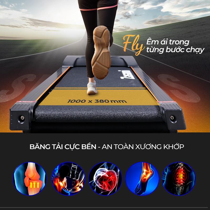 MÁY CHẠY BỘ ZASAMI FLY KZ-G7380 - Tặng xoay eo + túi trống thể thao
