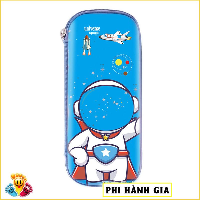 Hộp bút dành cho bé trai và bé gái in nhân vật phi hành gia vũ trụ E86