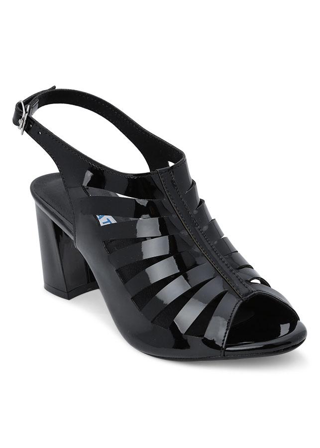 Giày Sandal Cắt Lazer Rosata RO109 - Đen