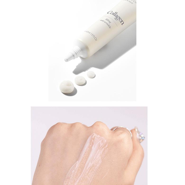 Kem Dưỡng Cải Thiện Nếp Nhăn Da Mặt và Mắt 9Wishes Collagen Ampule Eye & Face Cream 40ml