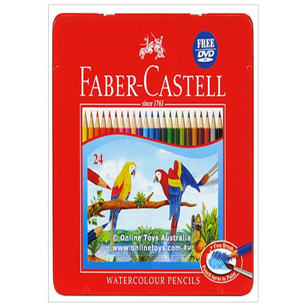 Faber-Castell-Chì Màu Nước Rl Ws Parrot-24 Màu Dài (Hộp Thiếc)