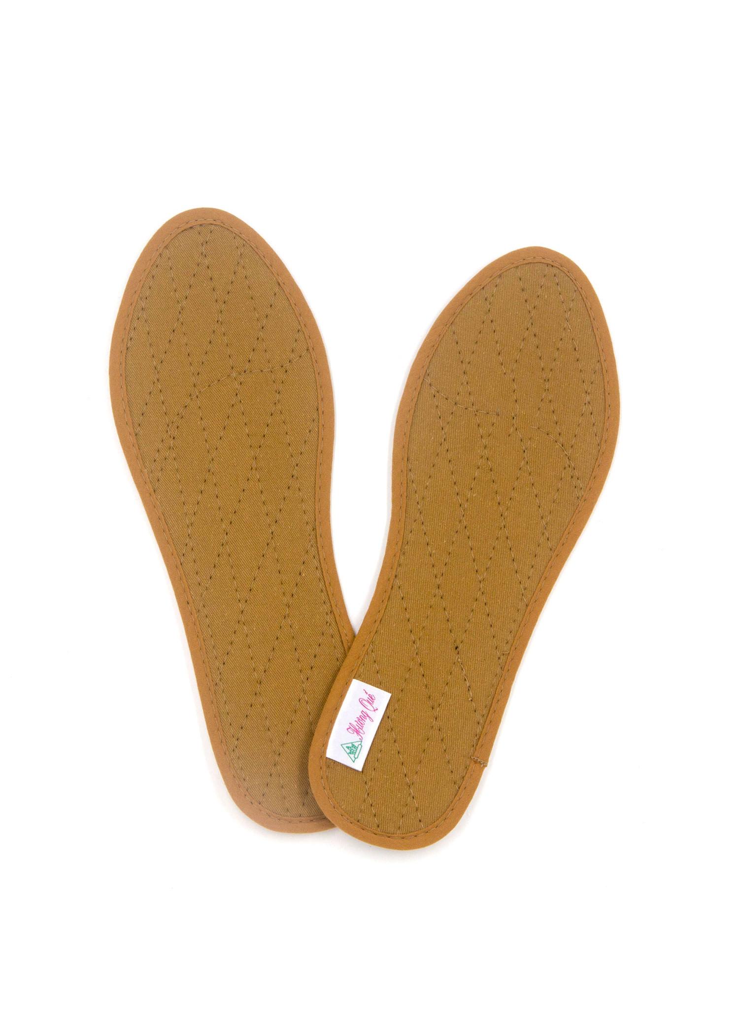 Lót giày vải cotton Hương quế CI-02 làm từ vải cotton - bột quế giúp hút ẩm - khử mùi - phòng cảm cúm và cải thiện sức khoẻ