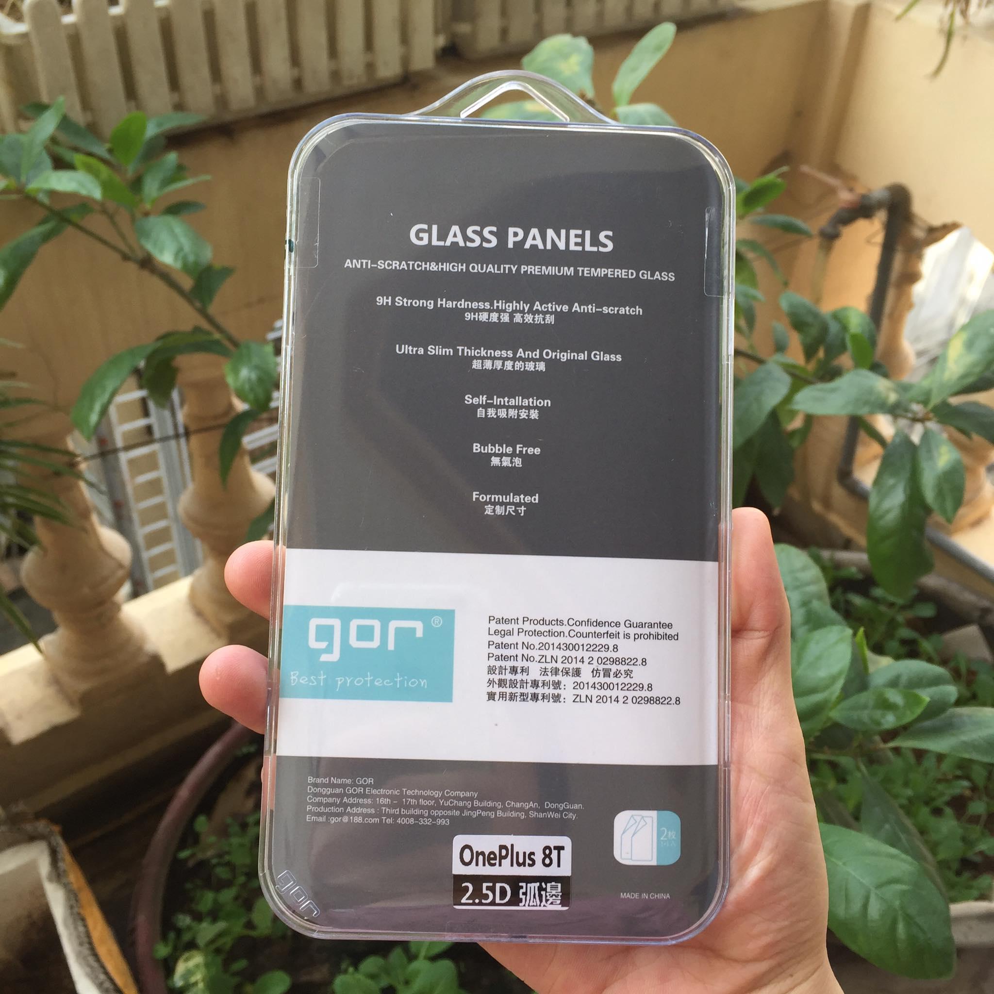 Bộ 2 Kính Cường Lực GOR cho OnePlus 8T ( 2 Miếng full box ) _ Hàng Nhập Khẩu