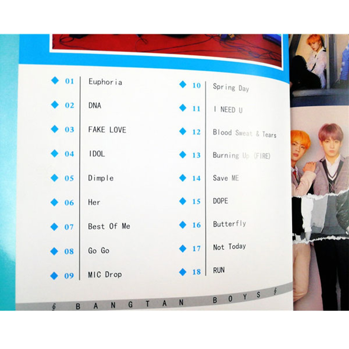 Photobook BTS lời bài hát kèm poster