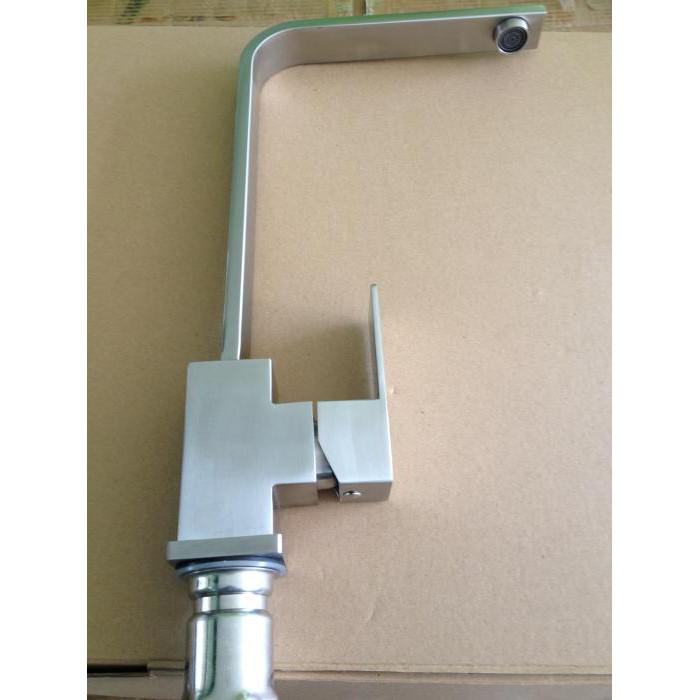 Vòi rửa chén vuông nóng lạnh inox 304