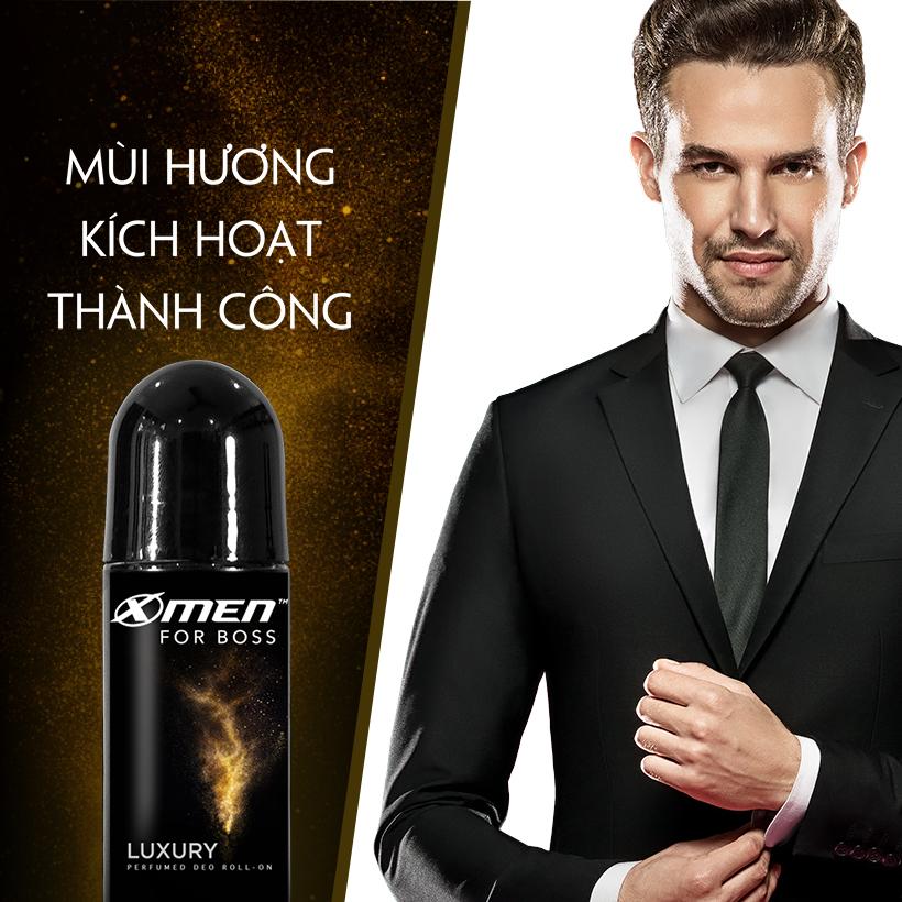 Lăn khử mùi X-Men For Boss Luxury - Mùi hương sang trọng tinh tế 50ml