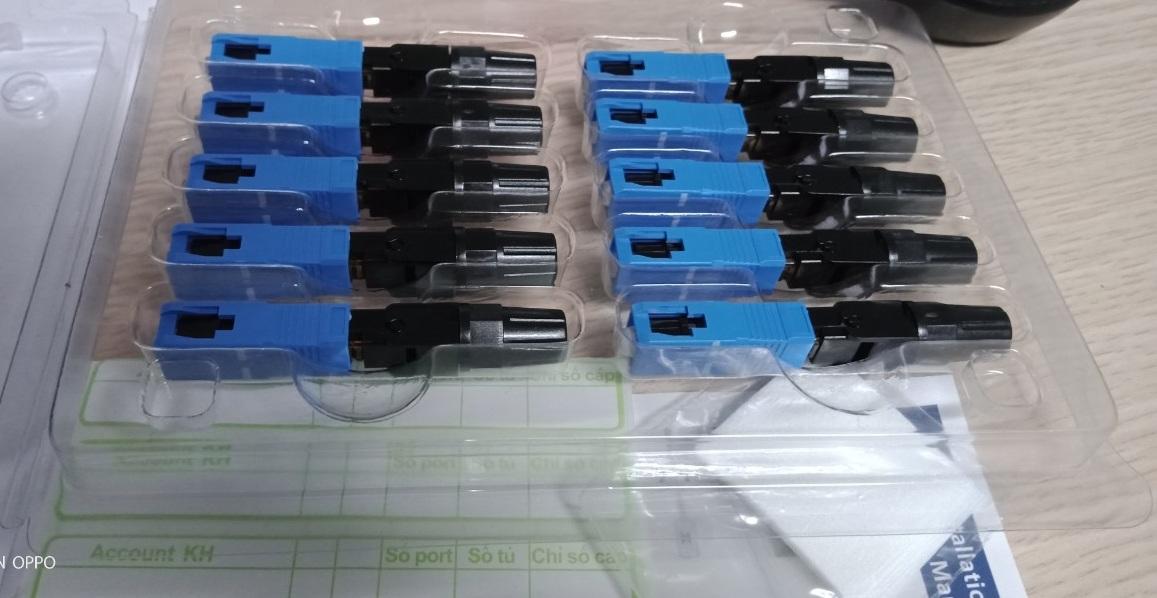COMBO 1 vỉ 10 chiếc Fast connectir SC/UPC dài 55mm, BTVNN 2020/11, Hàng chính hãng