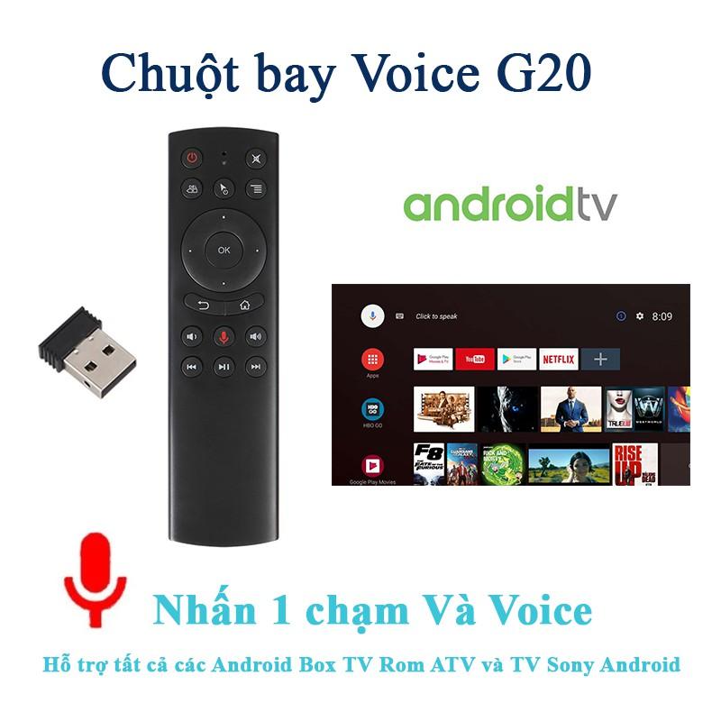 Điều Khiển Remote Bluetooth G20S, Tìm Kiếm Giọng Nói, có chuột bay, Air Mouse Remote Voice - Hàng Nhập Khẩu