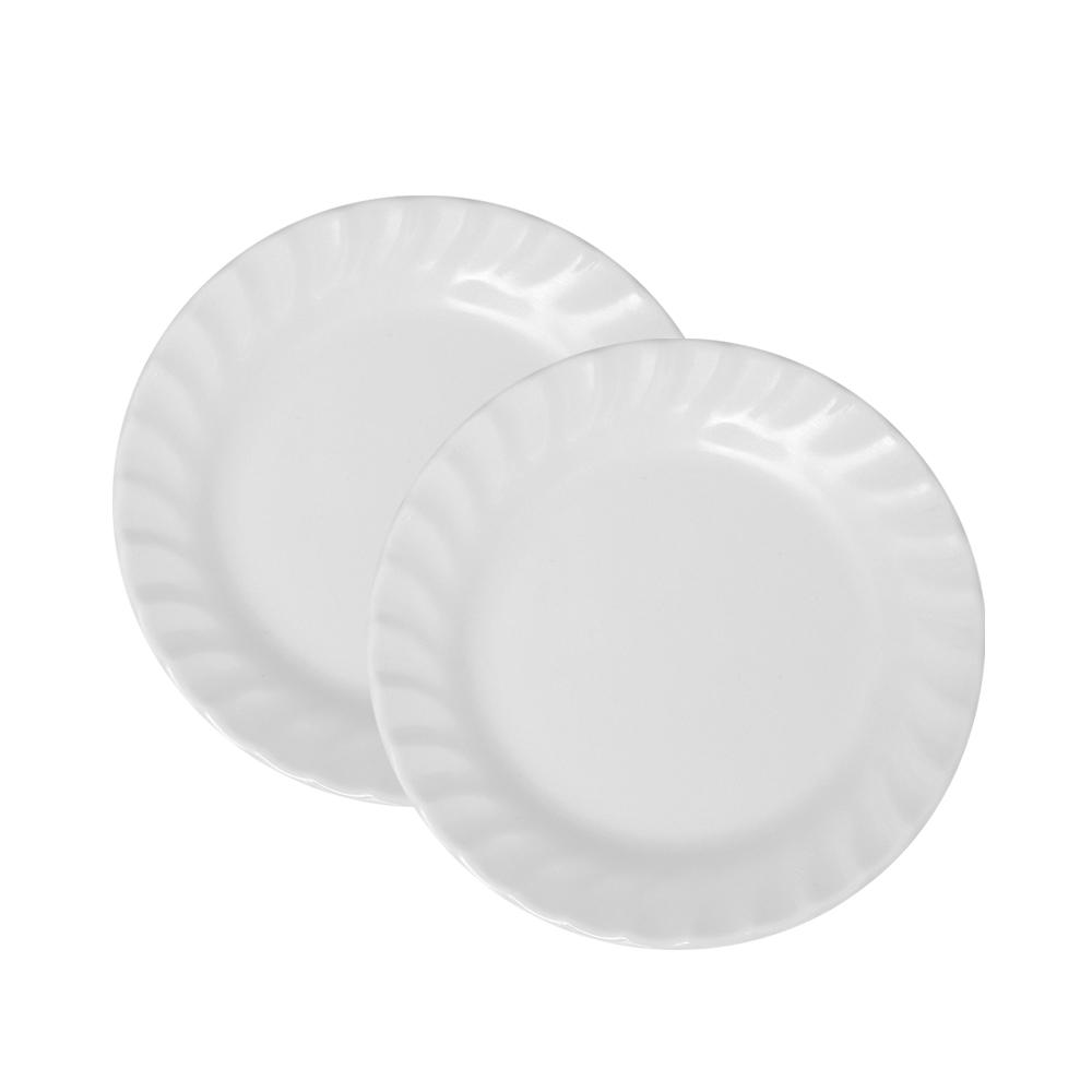 Bộ 3 Dĩa (Đĩa) 7 sâu xoắn Nhựa Xanh Melamine A507 WA3