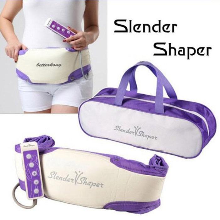 Máy massage giảm mỡ bụng Slender Vshaper - Tím trắng