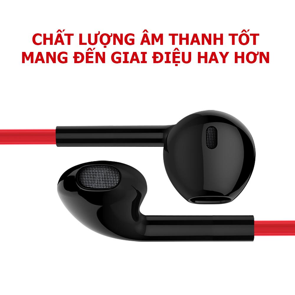 Tai nghe nhét tai có dây S17, tai nghe lõi tứ cho âm thanh 4D toàn cảnh chân thực,dây bẹt chống rối sử dụng được với tất cả các dòng điện thoại có giắc cắm tai nghe tròn 3.5