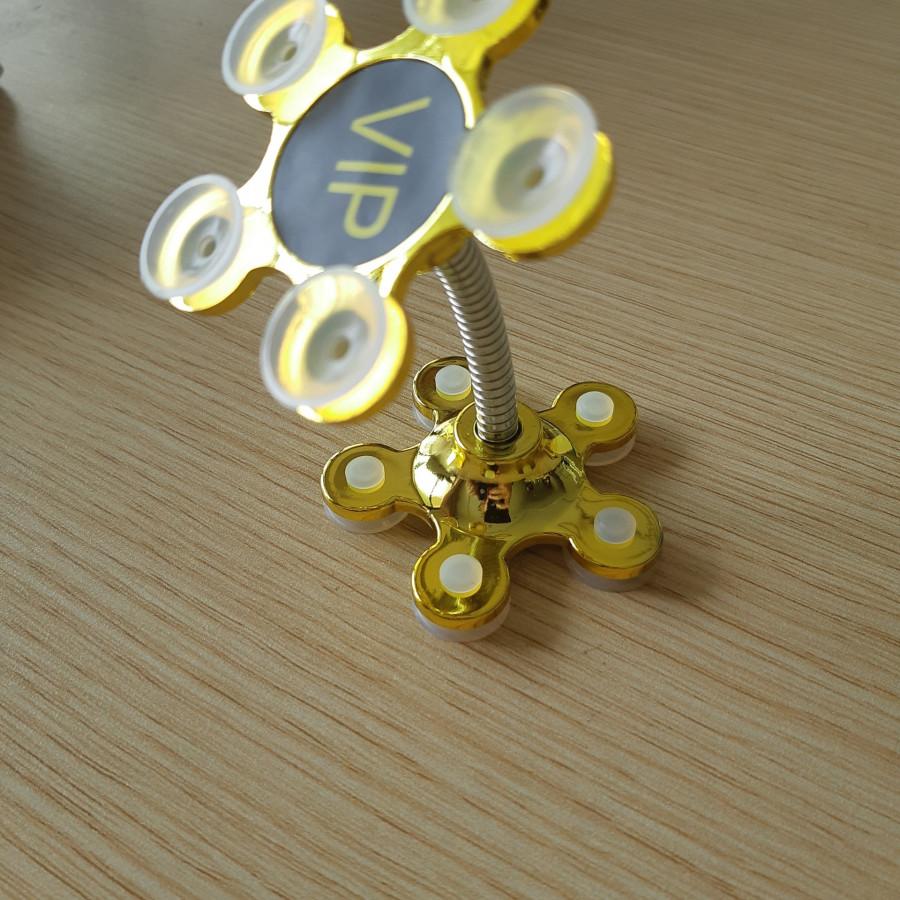 Giá đỡ điện thoại đế hút chân không 2 đầu hình cánh hoa 5 cánh.