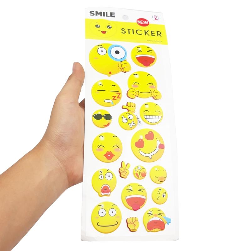 Sticker Mặt Cười Nhiều Hình (Mẫu Sản Phẩm Bên Trong Là Ngẫu Nhiên)