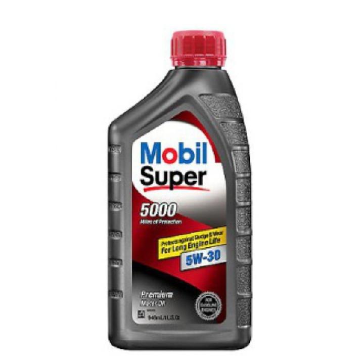Nhớt động cơ xăng Mobil super 5000 5W30 (946ml) - nhớt Mobil nhập khẩu từ Mỹ