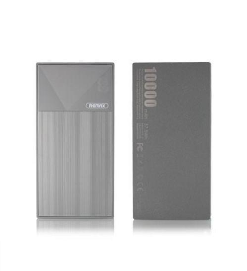 Kích thước nhỏ gọn, kiểu dáng mạnh mẽ. Một pin sạc dự phòng Remax RPP-55 10000mAh có kích thước chỉ 134 x 67 x 16 mm, trọng lượng khoảng 200g, chỉ vừa bằng một chiếc điện thoại iPhone 6. Điều này cũng có nghĩa bạn có thể mang Remax RPP-55 theo bên mình, mọi lúc mọi nơi mà không cảm thấy nặng nề hay khó chịu., Đồng thời, pin dự phòng Remax RPP-55 10000mAh sở hữu thiết kế hình khối mạnh mẽ, dứt khoát trong từng chi tiết, đường nét mang đến sự cá tính cho người dùng. , Vỏ pin Remax RPP-55 được làm từ chất liệu ABS + PC tạo nên độ bền bỉ khi dùng, đồng thời còn có tác dụng rất lớn trong việc chống cháy nổ., Dung lượng lớn: Pin sạc dự phòng Remax RPP-55 10000mAh có dung lượng pin lên đến 10000mAh, cho khả năng sạc điện thoại từ 3-4 lần liên tục trước khi cần sạc lại. Với dung lượng này, đảm bảo thời gian hoạt động lâu dài hơn cho các thiết bị điện tử., Sạc được 2 thiết bị cùng 1 lúc: Remax RPP-55 được thiết kế 2 nguồn ra, 1 là DC5V-1A và nguồn còn lại là DC5V-2A giúp bạn có thể dễ dàng lựa chọn đầu ra phù hợp với từng loại thiết bị của mình, từ đó tăng cường hơn tuổi thọ của thiết bị. Ngoài ra, thiết kế 2 nguồn ra tiện lợi, bạn hoàn toàn có thể sạc đồng thời 2 thiết bị cùng 1 lúc nhằm tiết kiệm thời gian sạc., Thiết kế màn hình Led báo dung lượng pin: Màn hình LED được thiết kế ngay trên loại pin dự phòng Remax RPP-55 10000mAh này giúp bạn có thể vừa biết được dung lượng pin vừa tiện lợi để quản lý thời gian cũng như số lượng thiết bị sạc phù hợp với dung lượng pin còn lại., Thông số kỹ thuật:, , Tên sản phẩm: Pin sạc dự phòng Remax RPP-55 10.000mAh, Hãng: Remax, Model: RPP - 55, Lõi pin: Lithium Polymer, Output (max): DC5V - 2.0A, Input (max): DC5V - 2.0A, Dung lượng pin: 10.000mAh, Hiệu suất chuyển đổi: từ 65% - 70% (theo công bố của nhà SX), Chất liệu: ABS + PC chống cháy (mức V0), Màu sắc: Đen/ Trắng/Xám