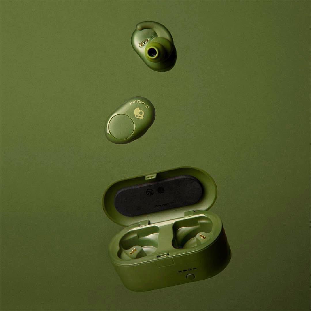 Tai nghe True Wireless Bluetooth Skullcandy Push - Xanh Oliu - Hàng Chính Hãng