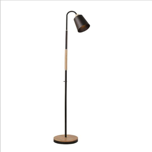 Đèn cây đứng VINTAGE DC9010 ĐẾ BỌC GỖ cao cấp - Kèm bóng LED