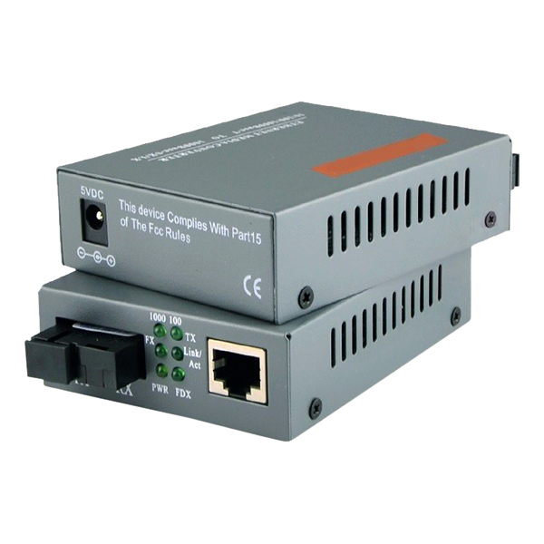 5 Cặp Converter Quang 1GB - Netlink Single Mode 1 Sợi Quang - Hàng Nhập Khẩu